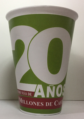VASO GRAPHICUP 20 AÑOS 16OZ MGA 25PZ