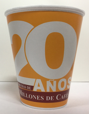 VASO GRAPHICUP 20 AÑOS 8OZ MGA 25PZ
